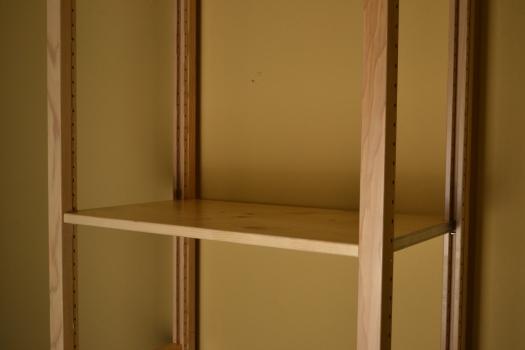 Flat shelves for Simple closet shelves