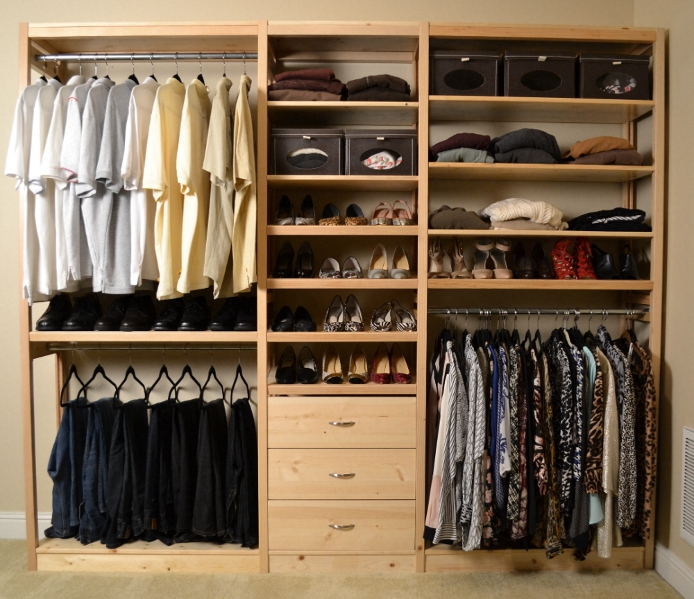 Reach in closets for Simple closet ideas